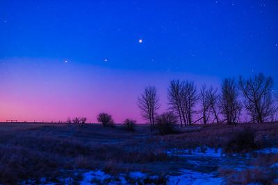 Planet Trio at Dawn V2 (March 26, 2020)