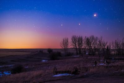 Planet Trio at Dawn V1 (March 26, 2020)