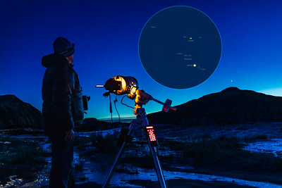 Shooting the Great Conjunction with Closeup Inset (Dec 20, 2020)