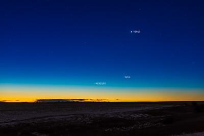 Mercury and Venus at Dawn with Labels (Nov 9, 2020)