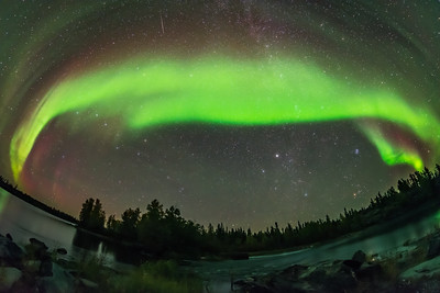 Sweeping Arc of the Northern Lights