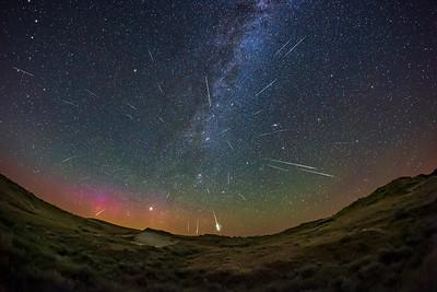 Perseid Meteor Shower over Dinosaur Park