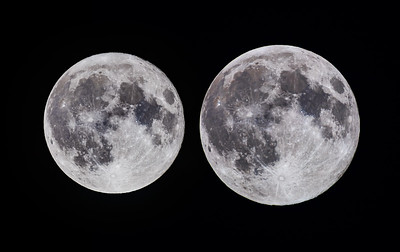 Comparison of the Full Moon at Apogee and Perigee