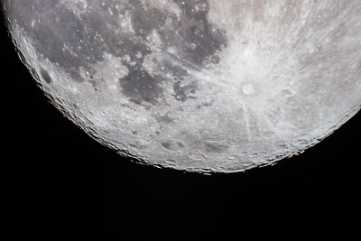 14-Day-Old Moon with South Polar Region Close-up