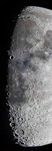 Along the Terminator of an 8-Day Moon