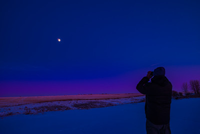 Observing the Moon with Binoculars (Dec 8, 2019)