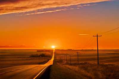 The Setting Sun at Equinox (Sept 22, 2021)