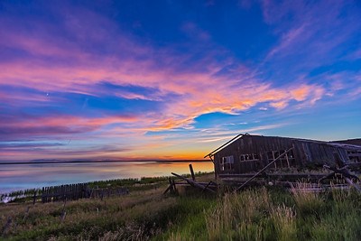 Sunset at Deadhorse Lake with Abandoned Farmstead #2