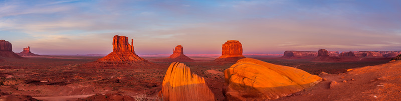 Sunset Panorama at Monument Valley