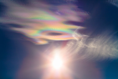 Iridescent Clouds at White Sands #3
