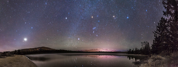 Planets and Stars over Lake Annette