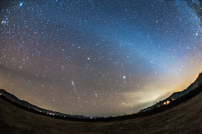 Iridium Flare and Zodiacal Light