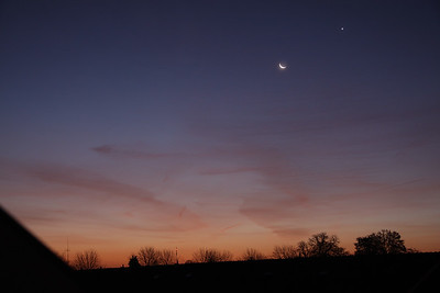 Venus and the Moon