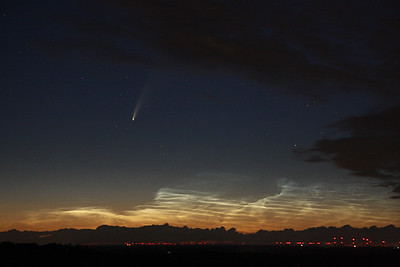 Comet Neowise (C/2020 F3) and noctilucent clouds
