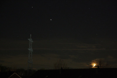The Moon, Jupiter and Saturn