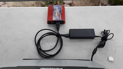 DC to AC inverter to charge lap top if needed.