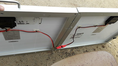 Panels fold and connect via Andersons. Color code to guide hookup.