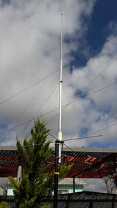 Close up of the VHF gain antenna for packet if mag mount not enough.