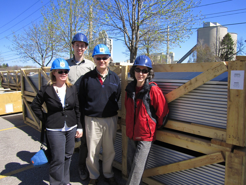 The TAF crew visits for a tour: Mary Pickering, Julia Langer, Lyle and Richard.
