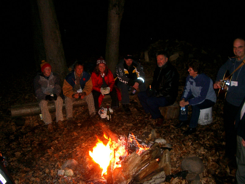 The OSEA Retreat/AGM Campfire, Nov '07 (before we all got silly).