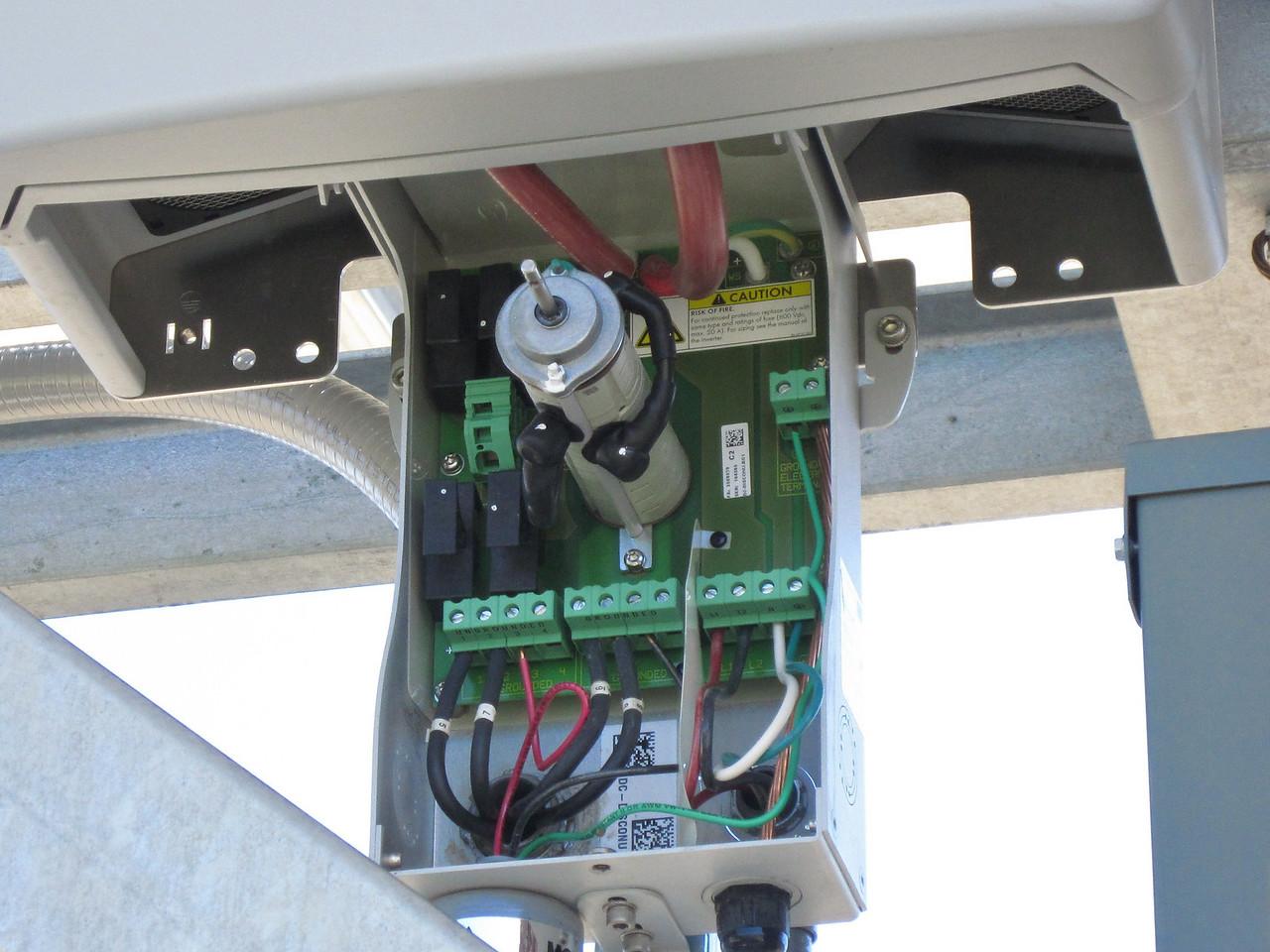Inside the inverter power supply/switch box.