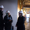 "Meyer invested in the Cascadia's Garlington Center project in 2015 with a grant and a PRI Loan. Construction is underway and it is having a hard hat funders tour from 3-4pm on October 19th at Garlington Center 3034 NE MLK Jr. Blvd.<br /> <br /> Thursday 10/19/17 - Some intrepid members of the community took a hard hat walking tour of the Cascadia's new Garlington Center in a pouring rain. We saw new residential units and a new medical clinic. A roof was on the medical clinic but since there was no tar paper or other roofing material it was raining inside too; ankle-deep water much of the tour.<br /> © 2017 Fred Joe /  <a href=""http://www.fredjoephoto.com"">http://www.fredjoephoto.com</a>"