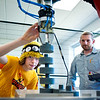 "High school robotics teams got the rare opportunity to tour the SolarWorld Hillsboro facility Saturday 4/21/12. Photo by Fred Joe © SolarWorld USA  <a href=""http://www.fredjoephoto.com"">http://www.fredjoephoto.com</a>"