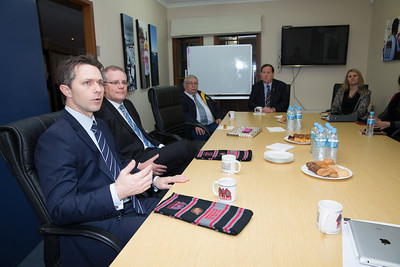 Ryan Hamilton MP Shadow Minister for Communications along with the Hon. Scott Morrison MP Minister for Immigration and Border Protection met with the board members from Soldier On at the Canberra Office.