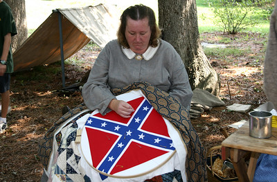 Quilting kept the women busy.