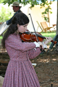 Visitors were treated to wonderful era appropriate music.