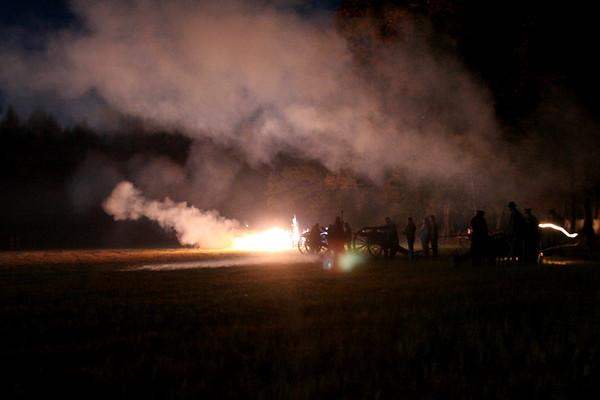 Civil War Artillery Night Firing - Ft Branch, NC 2006