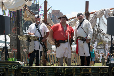 The Press Gang entertains the crowd with sea shanties.  Great group of guys!