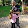 Harel's daughter ran out of dining hall to hug her dad
