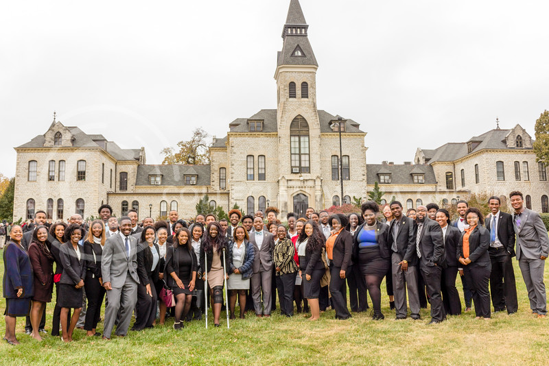 The Black Student Union at Kansas State and the Big XII Council on Black Student Government host a Solidarity Rally on Nov 4, 2017 (Alex Shaw | Collegian Media Group)