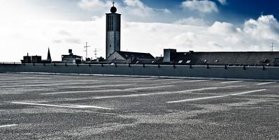 Oberste Ebene des Parkhauses Goerderler Straße - Solingen 2012