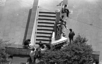 1986 - rumhängen vor dem Turmhotel - Solingen 1986