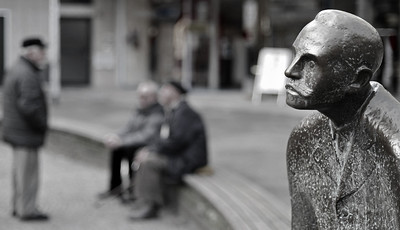 Peter Witte hört zu. Alter Markt - Solingen 2012
