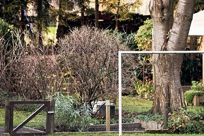 Eine Teppichklopfstange Spar- und Bauverein Siedlung Botanischer Garten - Baujahr 1920 Solingen 2007