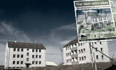 Resthäuser Flachsberg, der Bagger kommt in Kürze - Solingen 2008
