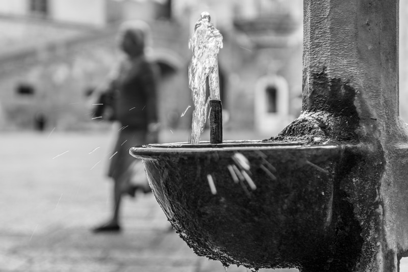 Naples Castel Nuovo Water Fountain