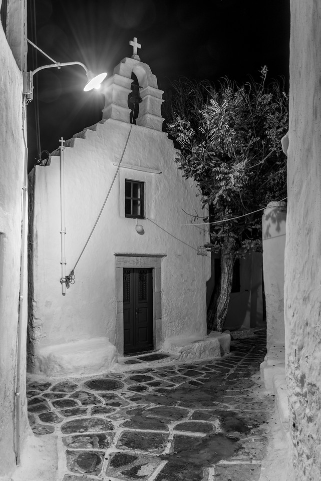 Mykonos Morning Church Alley