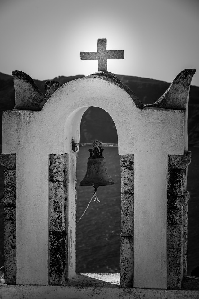 Santorini Oia Bell and Cross