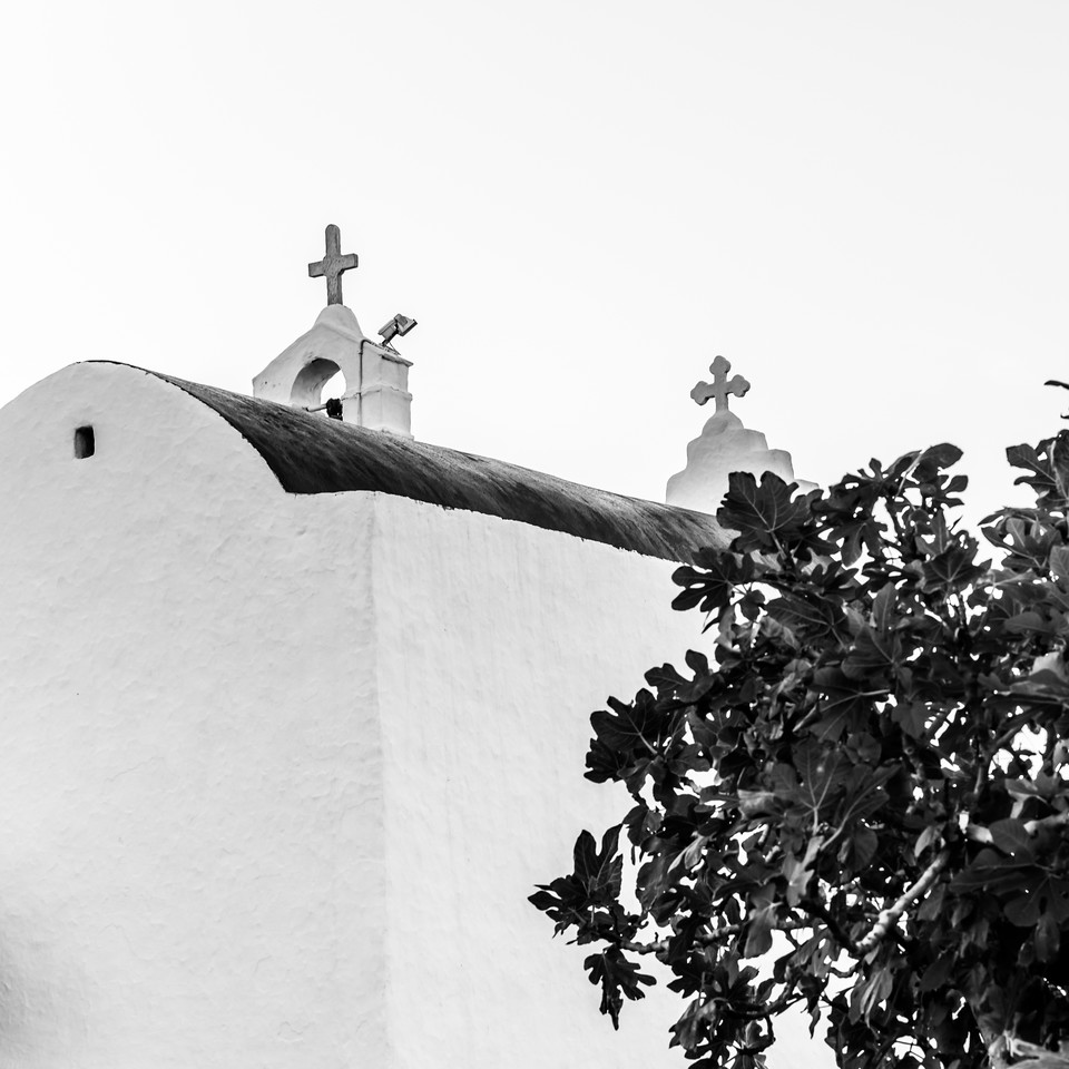 Mykonos Church Top Crosses