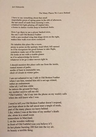 My published Poem, The Many Places We Leave Behind