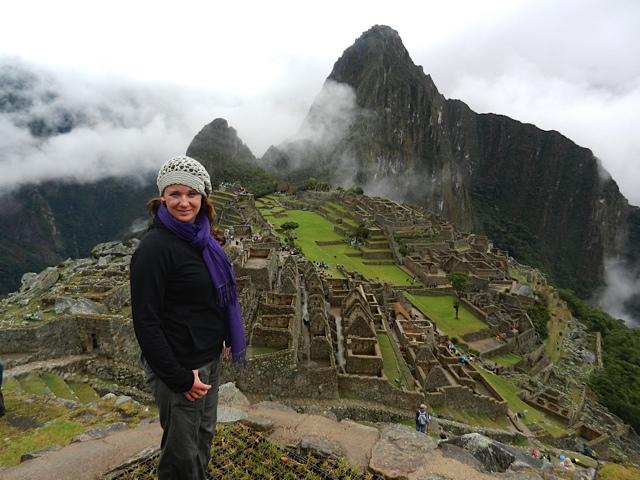 Louise at Machu Picchu in Peru, July 2011