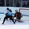 ... the puck eludes the first defender
