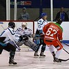 Not all one way traffic as Ben Joseph Simister shoots wide of the Sharks goal