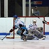 """John Connolly picks up a loose puck in his own """"D"""""""