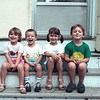 The cousins in 1988.  Just about every year since the late 1980s, I've taken a photo of the two Milder kids and the two Shueys.  This one is a particular favorite.