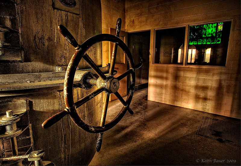 Hatch Wheel - Gas Chamber Door - Abandoned NM Penitentiary